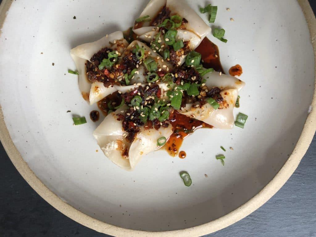 kimchi pork dumpling