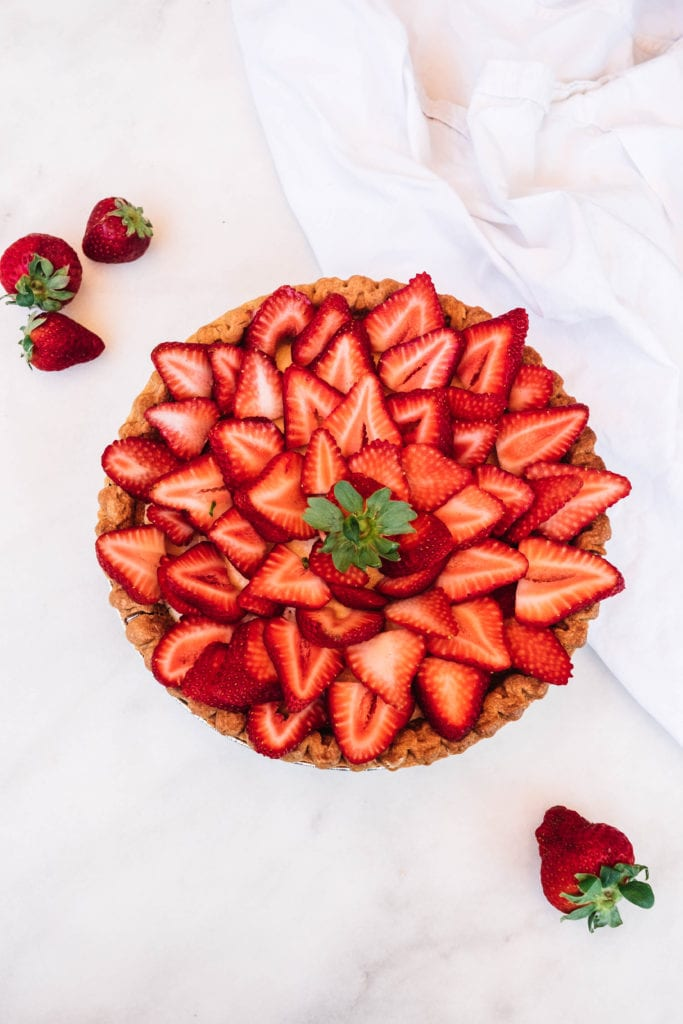 easy strawberry tart with queso fresco filling