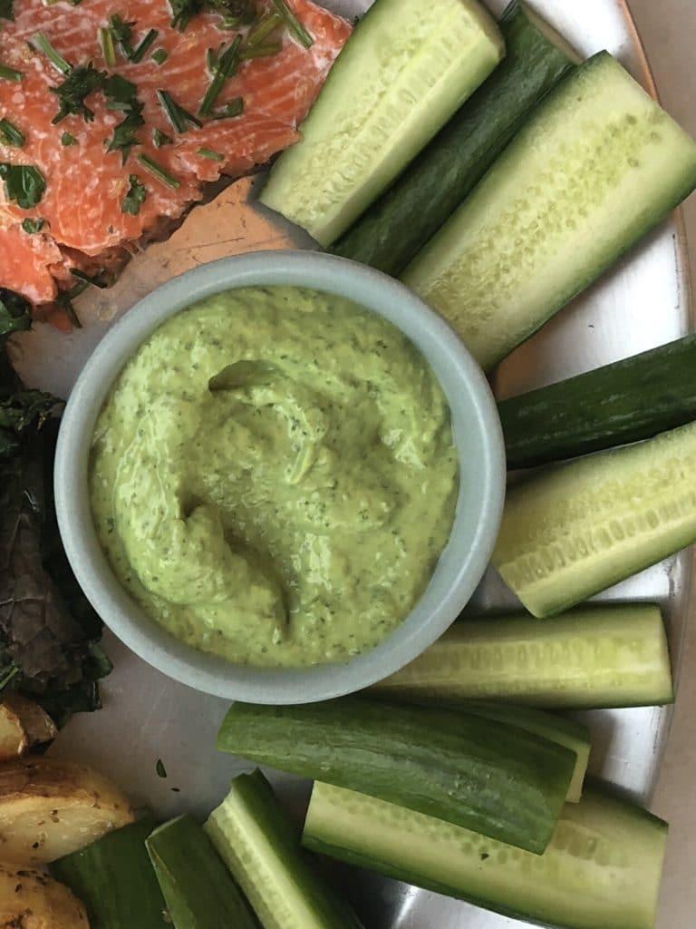 Recipe for green goddess dressing