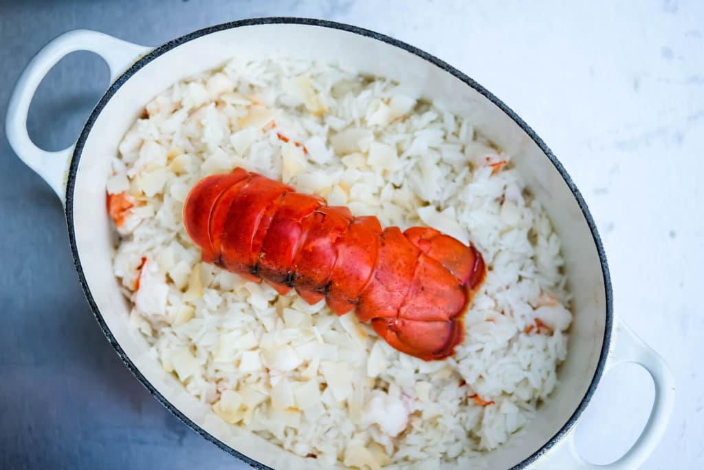 coconut lobster rice