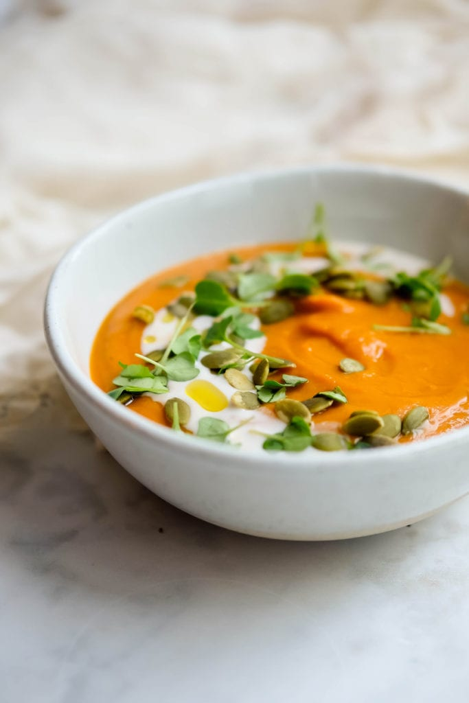 Recipe for an easy, healthy sweet potato soup