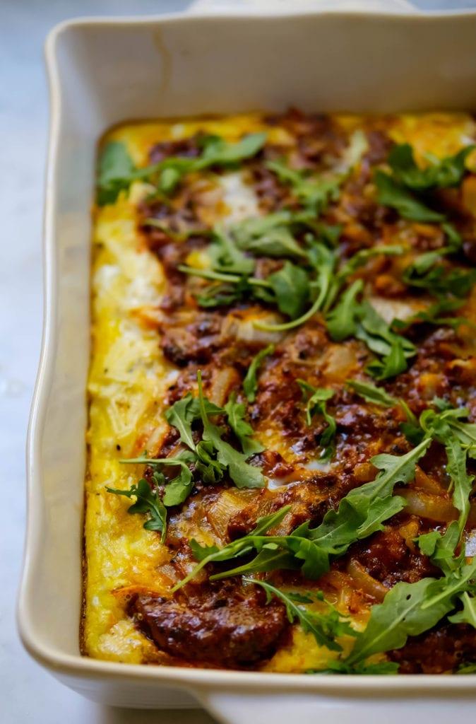 hashbrown and chorizo breakfast bake