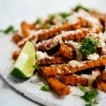 loaded mexican sweet potato fries