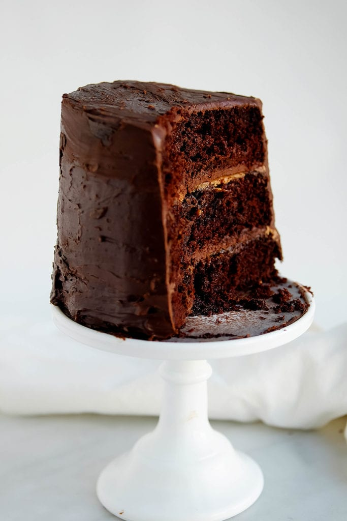 Vegan Chocolate Birthday Cake