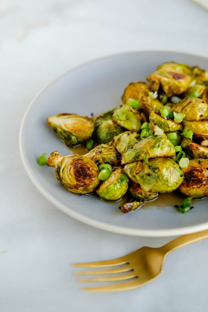 ROASTED SWEET-AND-SOUR BRUSSELS SPROUTS
