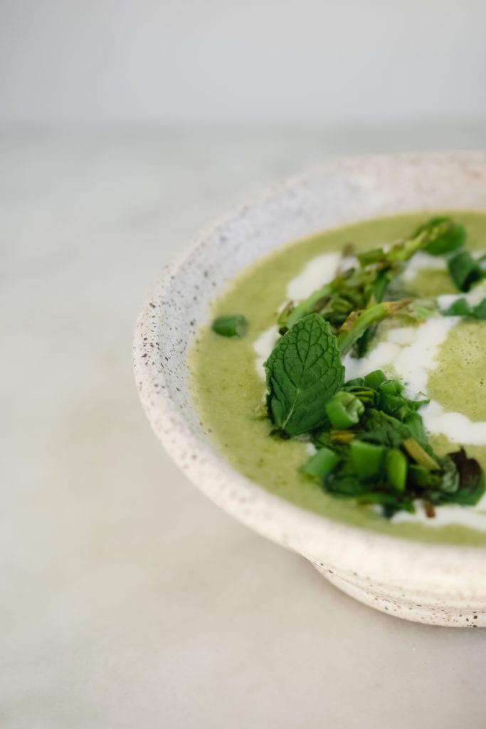 spring herb & asparagus soup