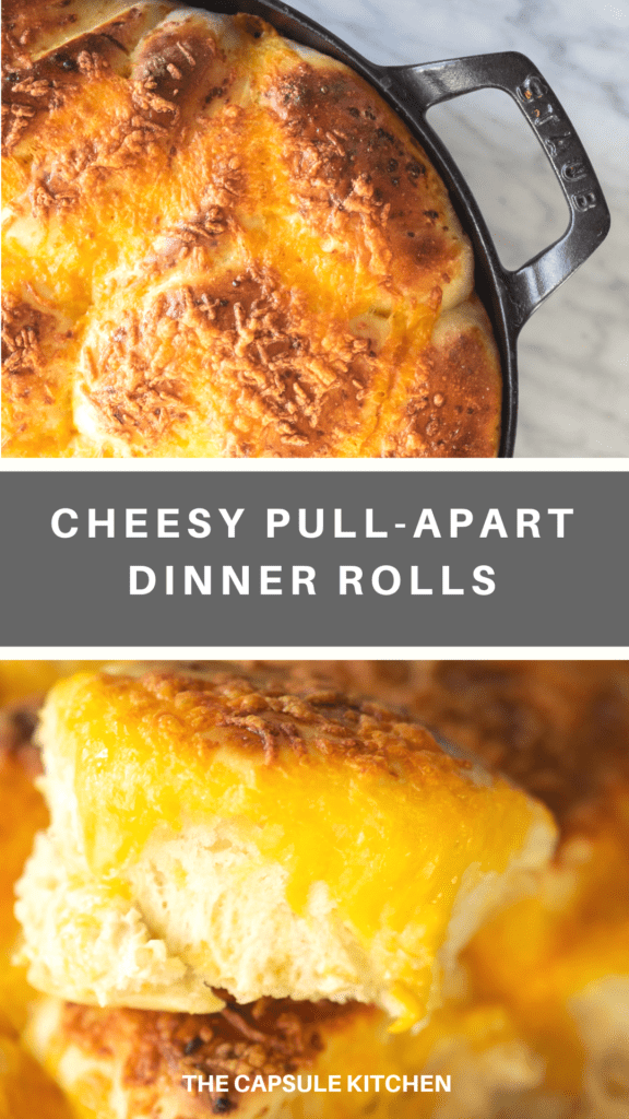 Recipe for cheesy pull-apart dinner rolls