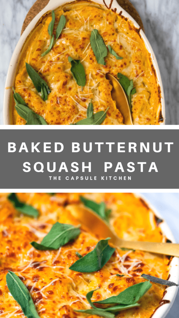 Recipe for butternut squash baked pasta