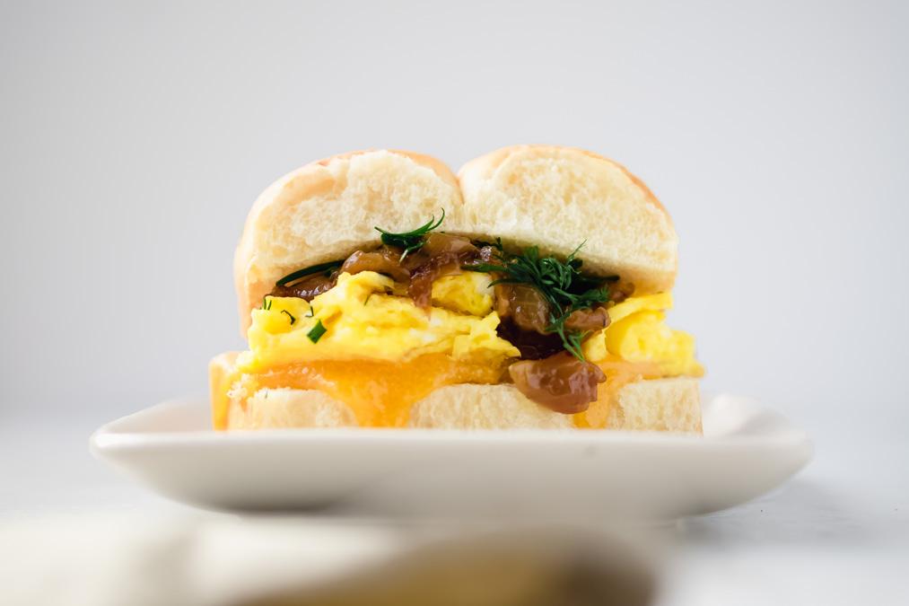 fancy breakfast sandwiches (eggslut copycat of the Fairfax)