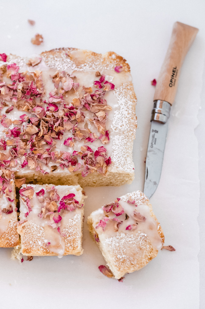 rosewater (or any flavor) snacking cake